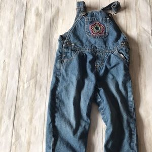 Osh Kosh vintage overalls by Vestbak flower pocket